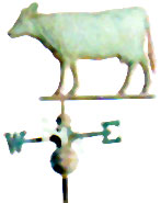 GP 155 Cow - Cow Weathervane Antiqued